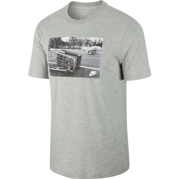 Nike Herren Sportswear Spirit Court T-Shirt grau