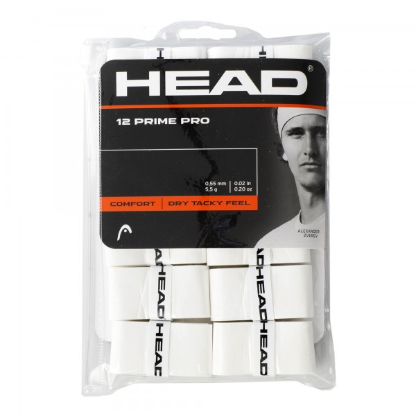 Head Prime Pro 12er Pack Overgrip weiß