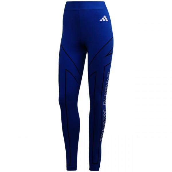 Adidas Damen Graphic Tight Leggings blau