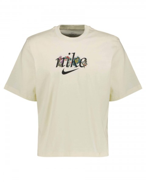 Nike Damen Sportswear Boxy Nature T-Shirt Freizeitshirt beige