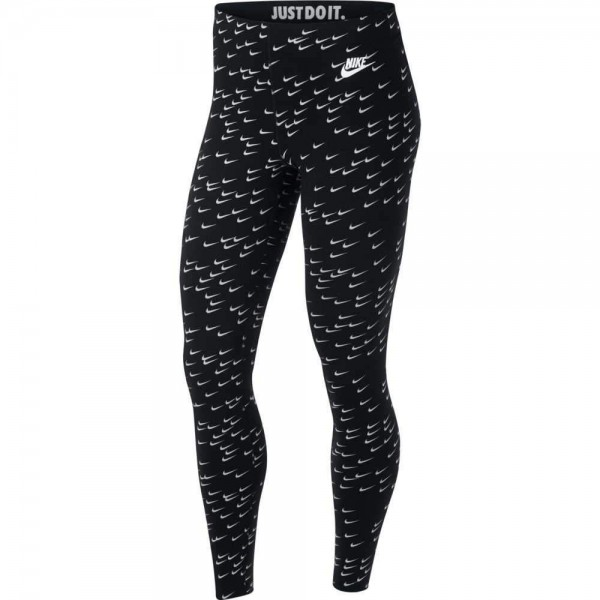 Nike Damen Leggings Leg-A-See tight schwarz/weiß