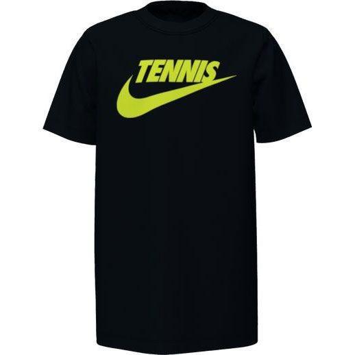 Nike Kinder Court Graphic Tennis Shirt black-volt