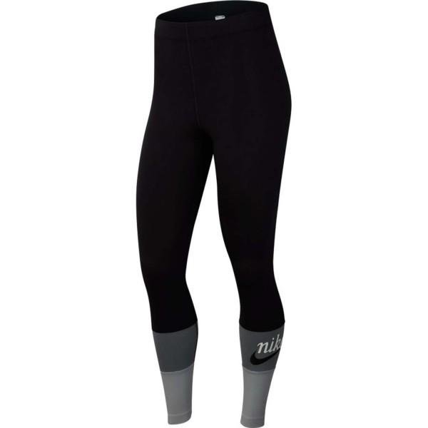 Nike Damen Sportswear Varsity Sporthose Tight schwarz-grau-weiß