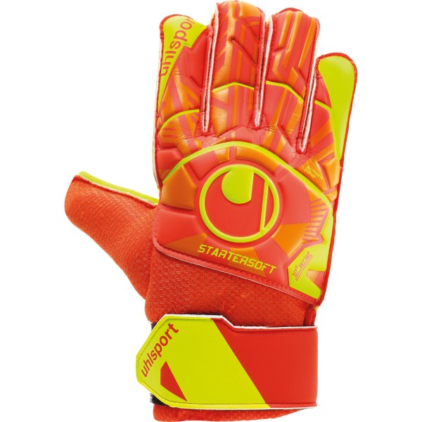 Uhlsport Dynamic Impulse Starter Soft Torwarthandschuhe orange-gelb