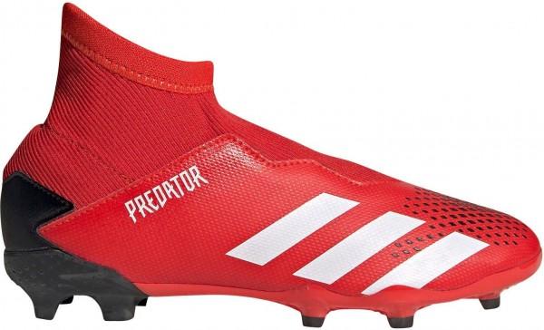 Adidas Kinder Predator 20.3 LL FG Fußballschuh rot-schwarz-weiß