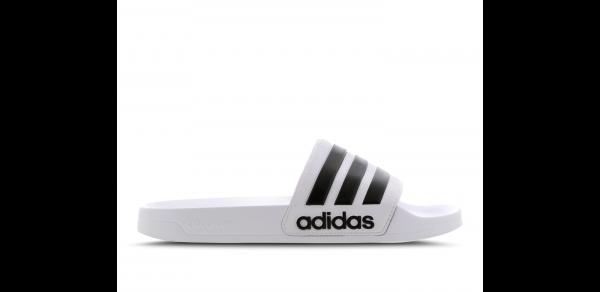 Adidas Herren Adilette weiß-schwarz