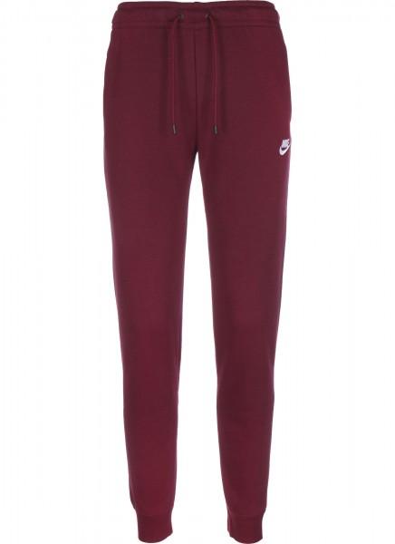 Nike Damen Sportswear Essential Trainingshose Freizeithose weinrot