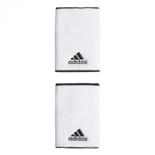 Adidas Tennis Schweißband lang weiß-schwarz