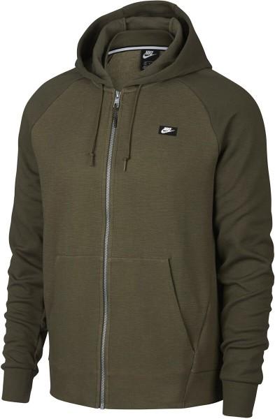 Nike Herren Hoodie FZ Kaputzenpullover Olive/Melage
