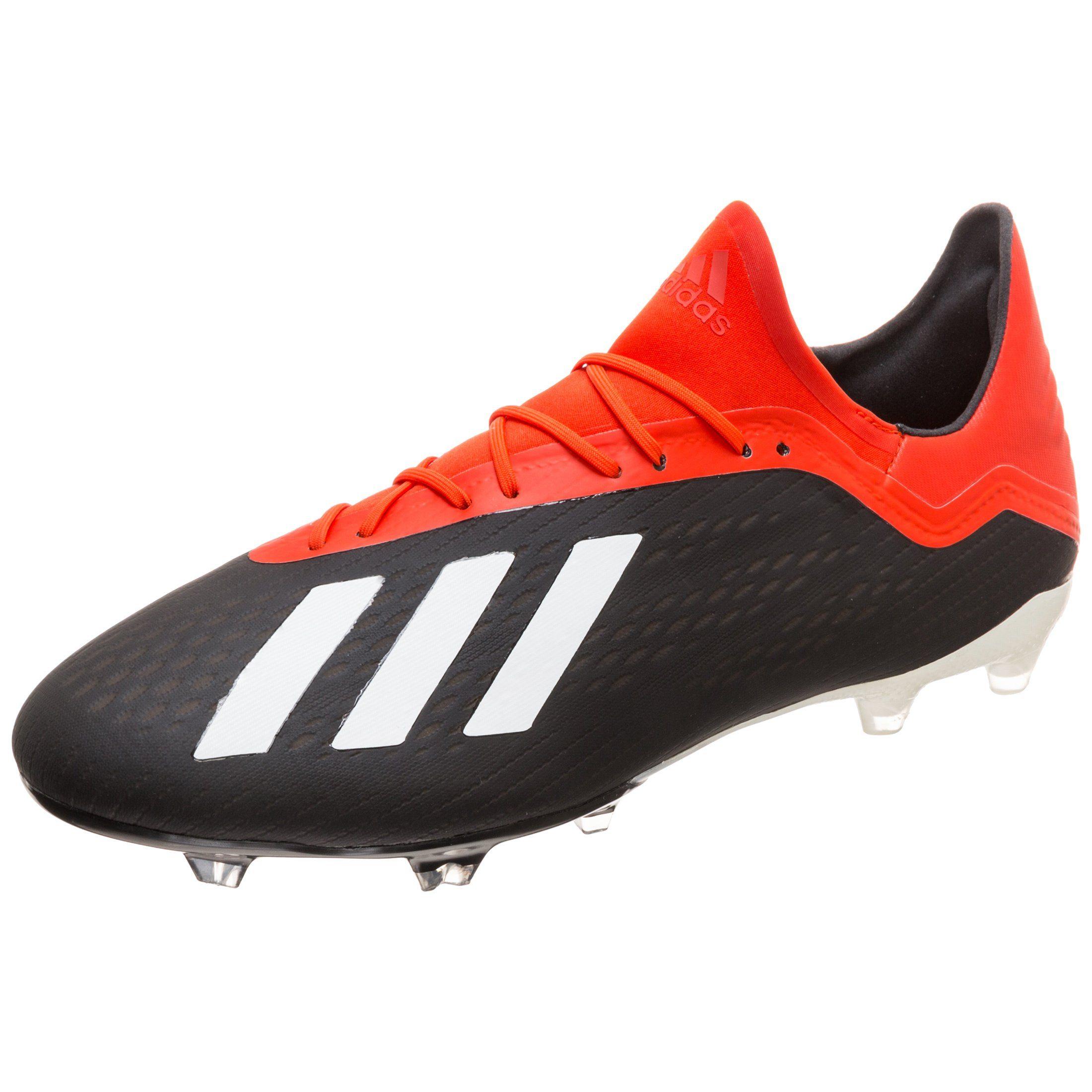 Adidas Herren X 18.2 FG Fußballschuh schwarz rot weiß