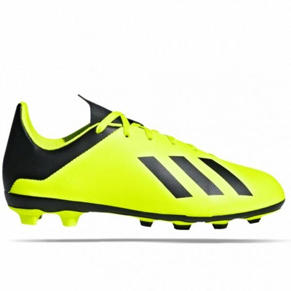 Adidas Kinder X 18.4 FxG Fußballschuh neongrün-schwarz