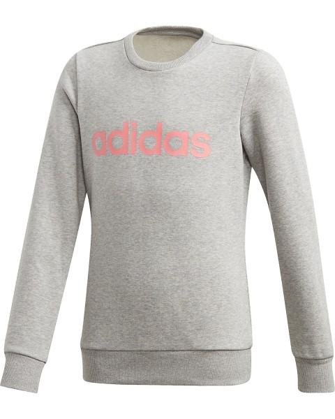 Adidas Kinder Essential Linear Sweatshirt Pullover grau-pink
