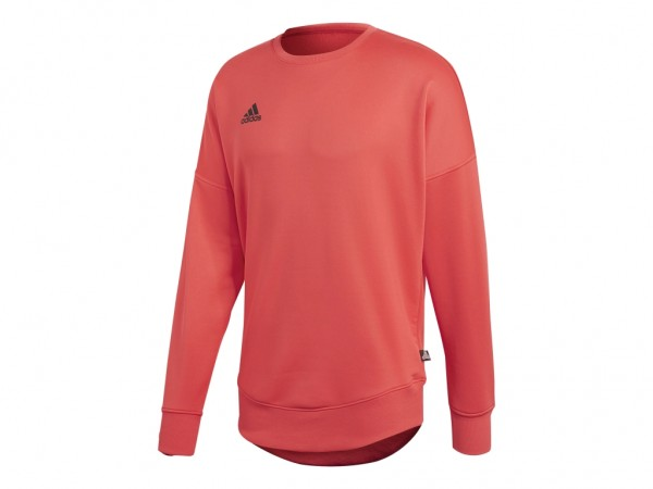 Adidas Tan Terry JSY L Sweatshirt Feuer Rot
