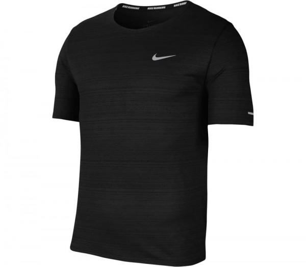Nike Herren Dri-Fit Miler Funktionsshirt Laufshirt schwarz