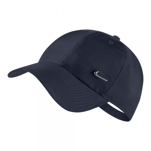 Nike metal swoosh H86 cap blau