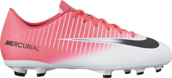 Nike Kinder JR Mercurial Victory VI FG Fußballschuh pink-weiß