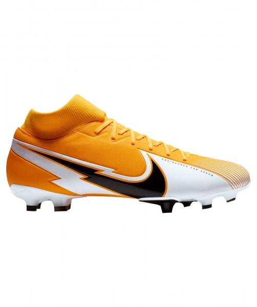 Nike Kinder Mercurial Superfly 7 Academy FG/MG Fußballschuh orange-weiß