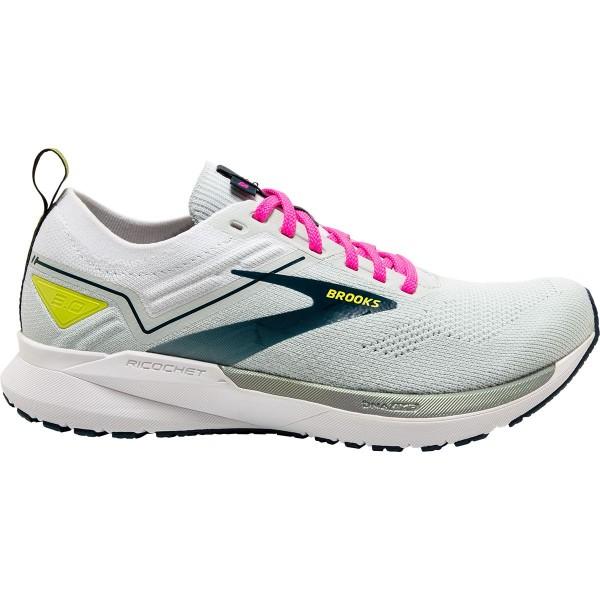 Brooks Damen Ricochet 3 Laufschuh mint-weiß-pink