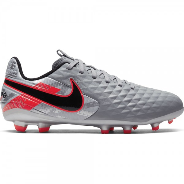 Nike Kinder Legend 8 Academy FG/MG Fußballschuh grau-rot