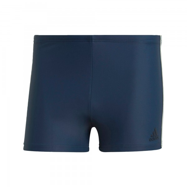 Adidas Herren Fit 3-Streifen Boxer Badehose Badeshort marineblau