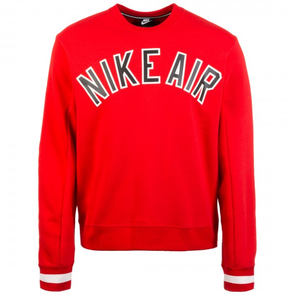 Nike Herren Pullover AIR Sweatshirt rot