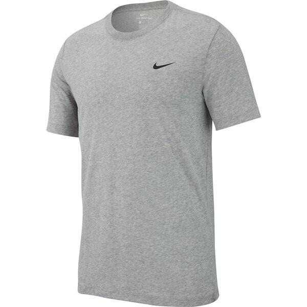Nike Herren Dri-Fit Trainingsshirt Fitnessshirt grau