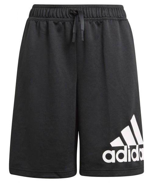 Adidas Jungen Big Logo Trainingsshort Freizeitshort schwarz-weiß