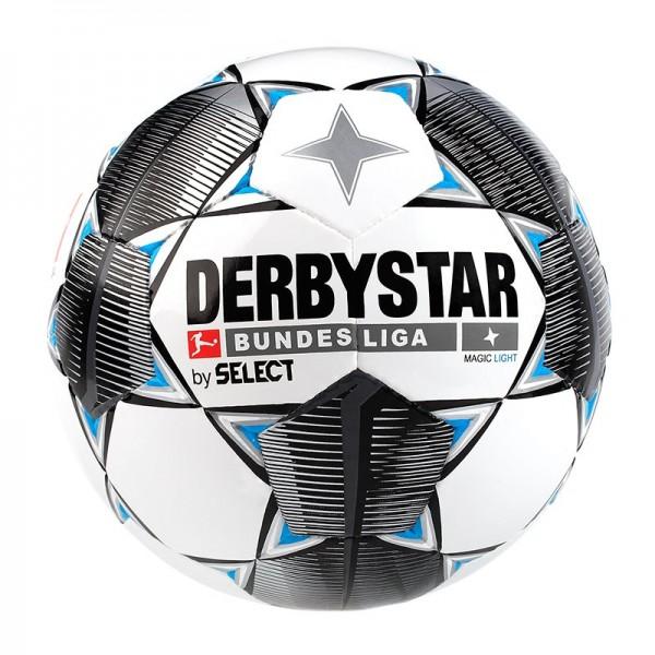 Derbystar Bundesliga Magic Light Fußball weiß-schwarz-grau-blau
