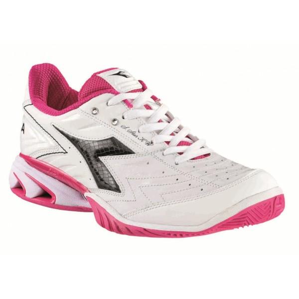 Diadora Damen S. STar K W AG Tennisschuh weiß-pink-schwarz