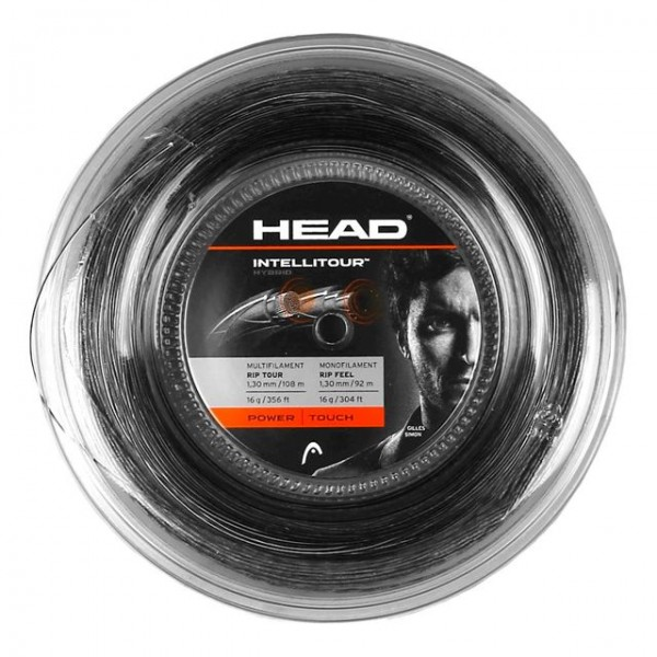 Head Intellitour Tennis Saitenrolle 200 Meter schwarz