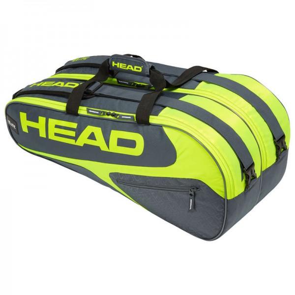 Head Tennistasche Elite 9R Supercombi grau/gelb