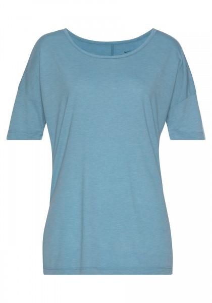 Nike Damen Yoga Shirt Fitness Shirt blau