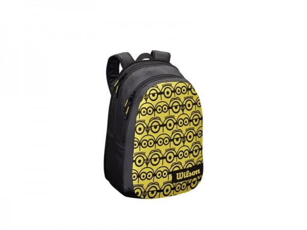 Wilson Minions JR Backpack Kinder Tennis Rucksack schwarz-gelb