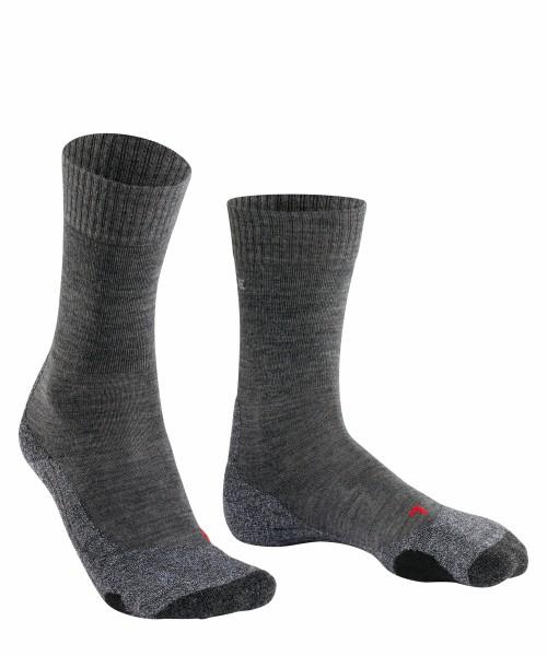 Falke Damen TK 2 Wool Trekking Socken Outdoor Strümpfe asphalt grau