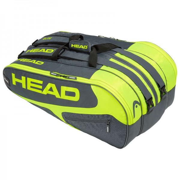 Head Tennistasche Elite 12R Monstercombi grau/gelb
