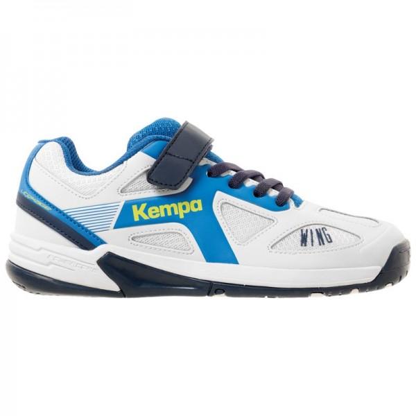 Kempa Kinder Wing Junior Handballschuh weiß-blau-schwarz