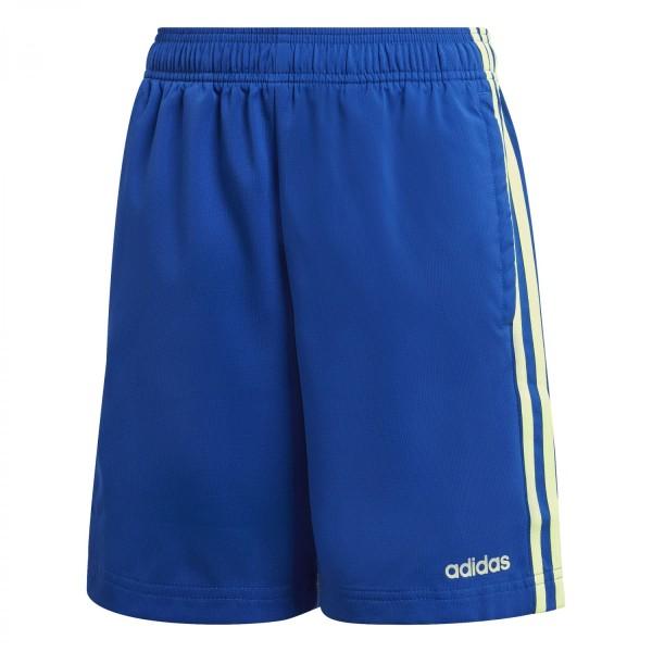 Adidas Jungen Essential 3 Streifen Woven Trainingsshort Freizeitshort blau-grün gelb