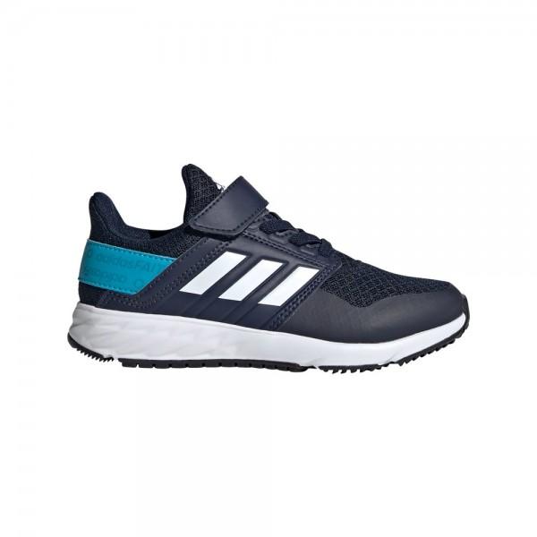 Adidas Kinder FortaFaito EL Laufschuh Sportschuh blau-weiß-türkis