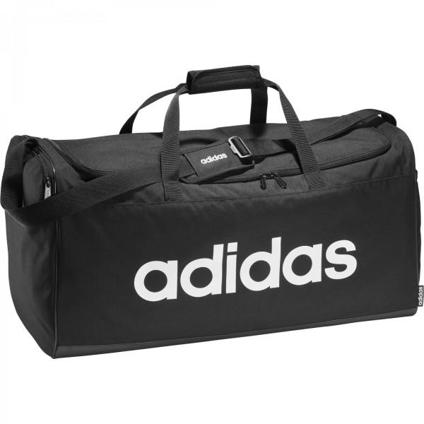 Adidas Linear Logo Duffelbag Sporttasche schwarz-weiß