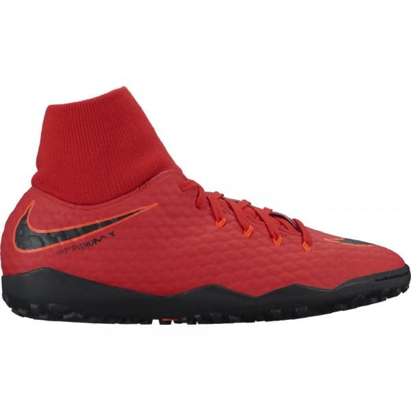 Nike Hypervenomx Phelon 3 DF IC Hallenschuhe Herren rot/schwarz