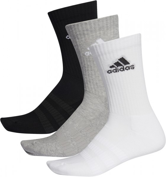 Adidas Cush Crew 3er Pack Sportsocken schwarz-weiß-grau