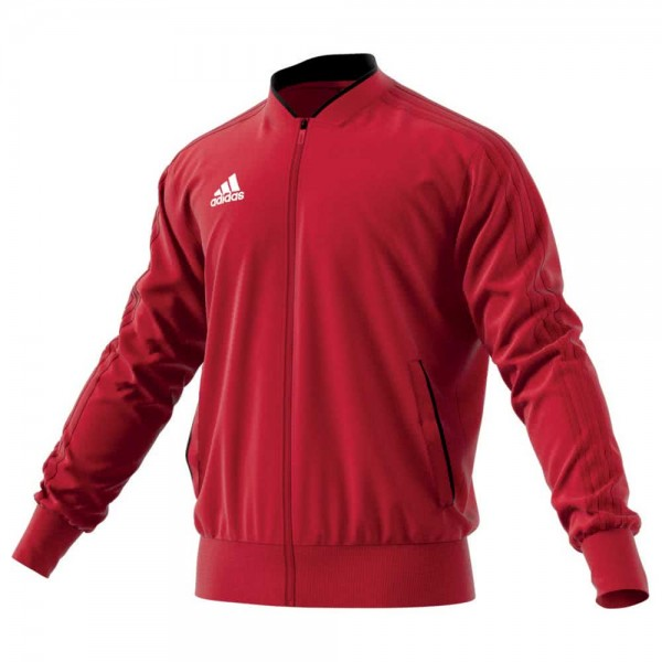 Adidas Kinder Condivo 18 Polyesterjacke Trainingsjacke rot-weiß