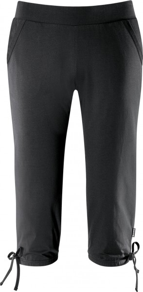 schneider sportswear Damen AURORAW 3/4 Freizeithose Trainingshose schwarz