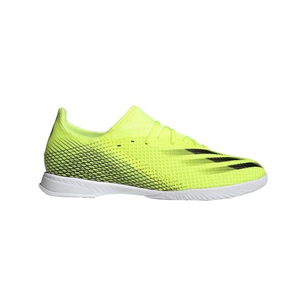 Adidas Herren X Ghosted 3 Fußball Hallenschuh neon gelb-schwarz