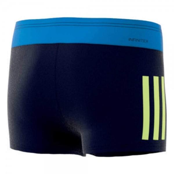 adidas Kinder Fit Boxer Schwimmhose Blau/Gelb