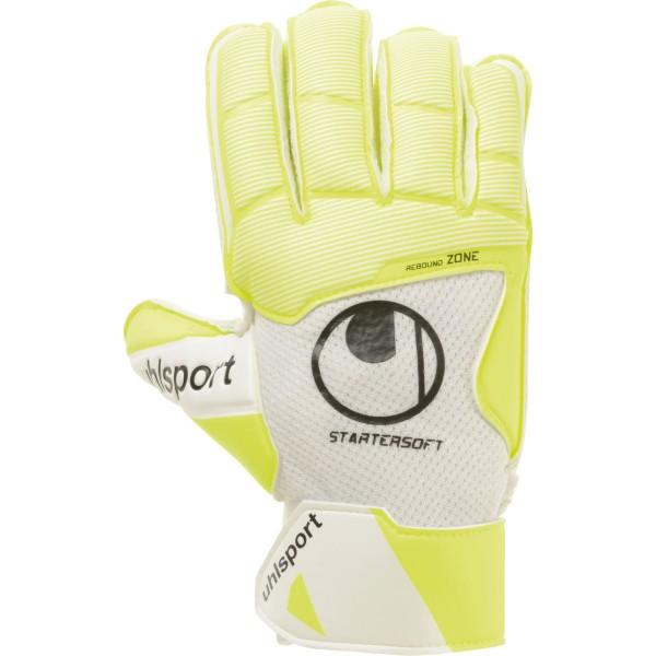 Uhlsport Pure Alliance Starter Soft Torwarthandschuhe weiß-gelb-schwarz