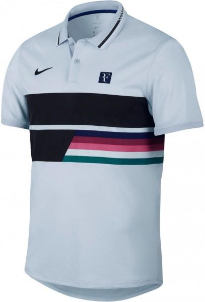 Nike Herren Advantage Poloshirt hellblau-schwarz