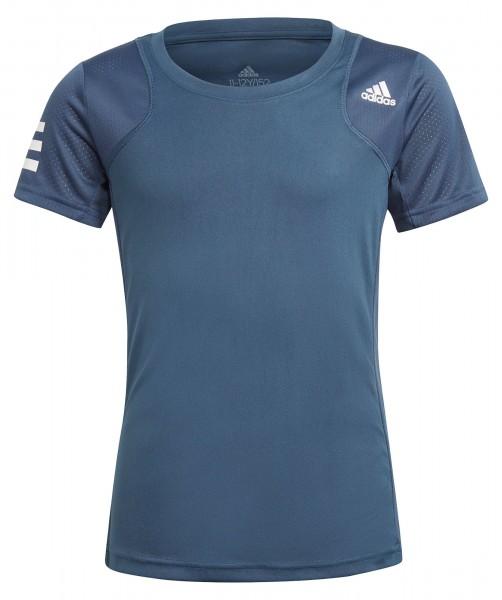 Adidas Mädchen Club Tennisshirt T-Shirt blau-weiß