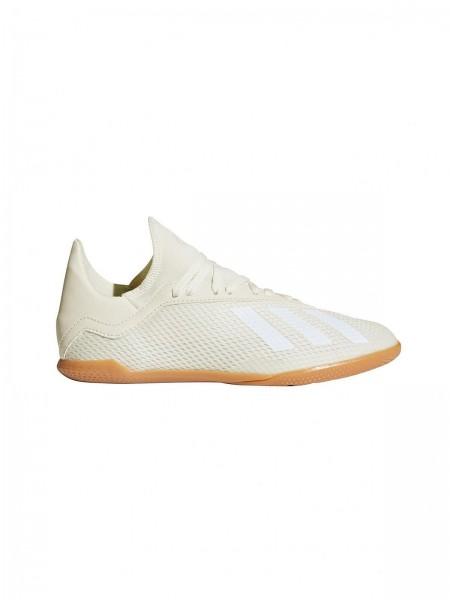 Adidas Kinder X Tango 18,3 Fußball Hallenschuh creme weiß