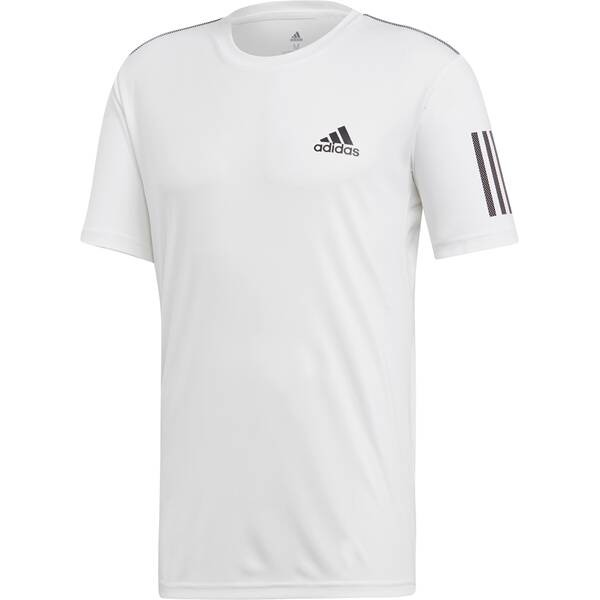 Adidas Herren Club 3 Stripes Tennis Shirt weiß-schwarz